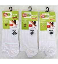 意大利棉混纺情侣同款白色棱纹袜    (12双)
